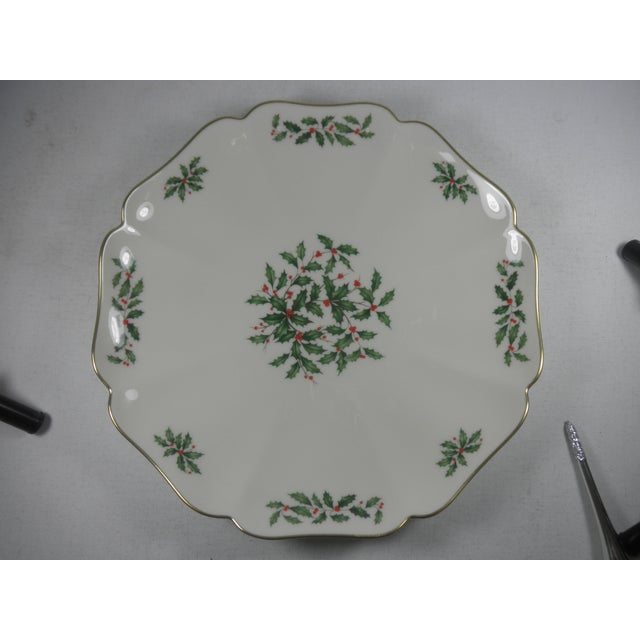 Vintage Holly Print Platter - Image 2 of 5