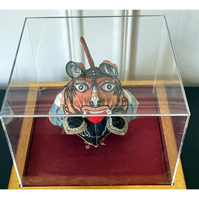 Framed Antique Chinese Child Tiger-Head Hat For Sale - Image 4 of 12