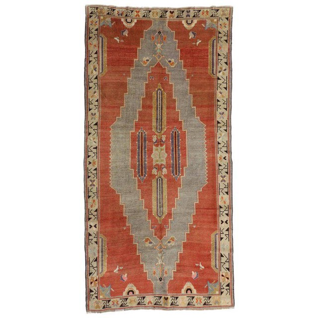 Textile Early 20th Century Antique Caucasian Tribal Rug - 4′9″ × 9′8″ For Sale - Image 7 of 7