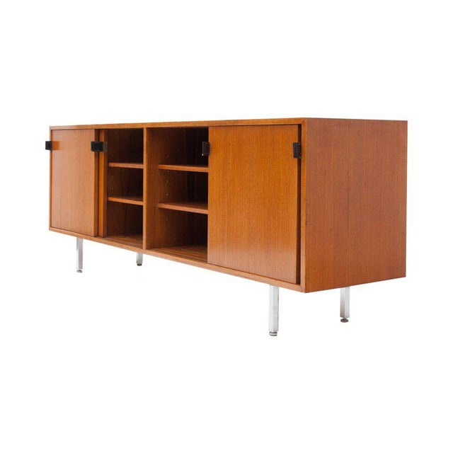 Modern Credenza in Teak by Florence Knoll, Manufactured by De Coene, 1950s For Sale - Image 10 of 11