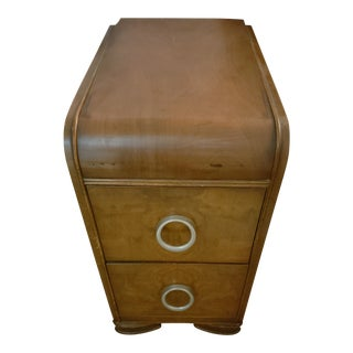 1930s Contemporary Style Wooden Nightstand For Sale
