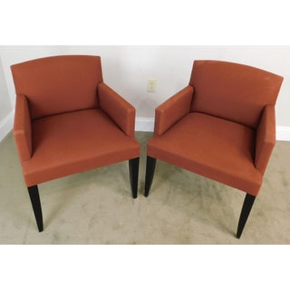 Modenature Classic Modern French Art Deco Style Pair Bergere Chairs (B) Preview
