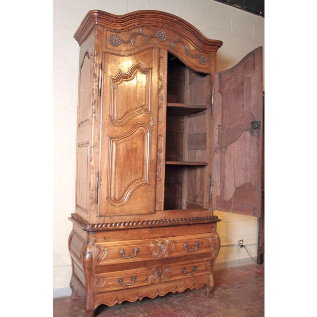 French Louis XV Walnut Armoire Pantalonniere - Image 5 of 10