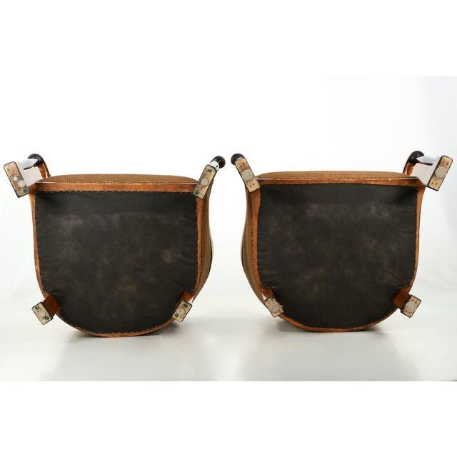 Pair of Ebonized Biedermeier Tub Arm Chairs, Circa 1825 For Sale - Image 10 of 10