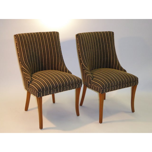 Sleek Tailored 40's Slipper Side Chairs - Image 3 of 10