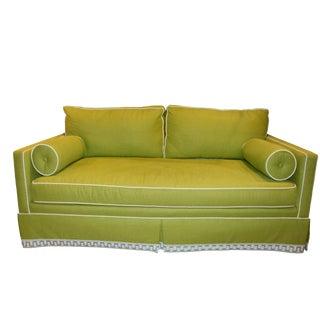 Tcs Custom Green Loveseat For Sale
