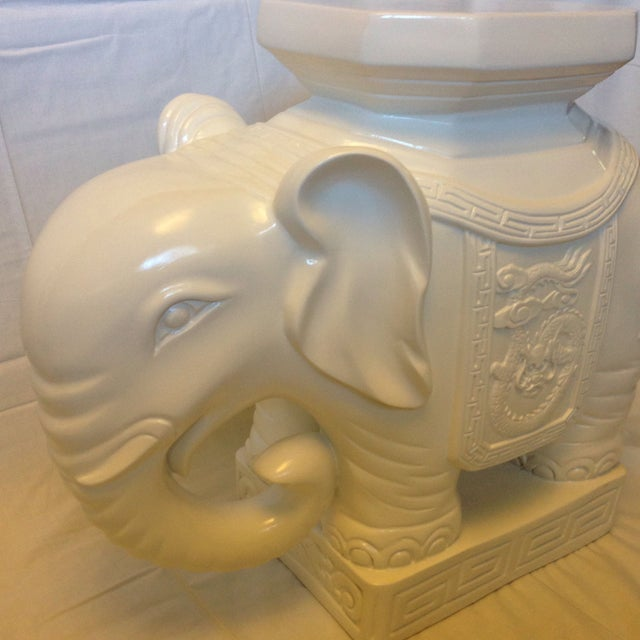 Lilly Pulitzer Elephant Garden Stool - Image 3 of 4