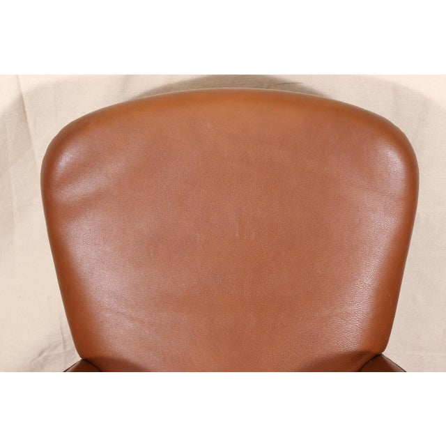 Brown Vintage Molinari Tan Leather Armchair For Sale - Image 8 of 11