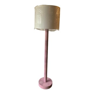 Purple Shagreen Over Sized Floor Lamp For Sale