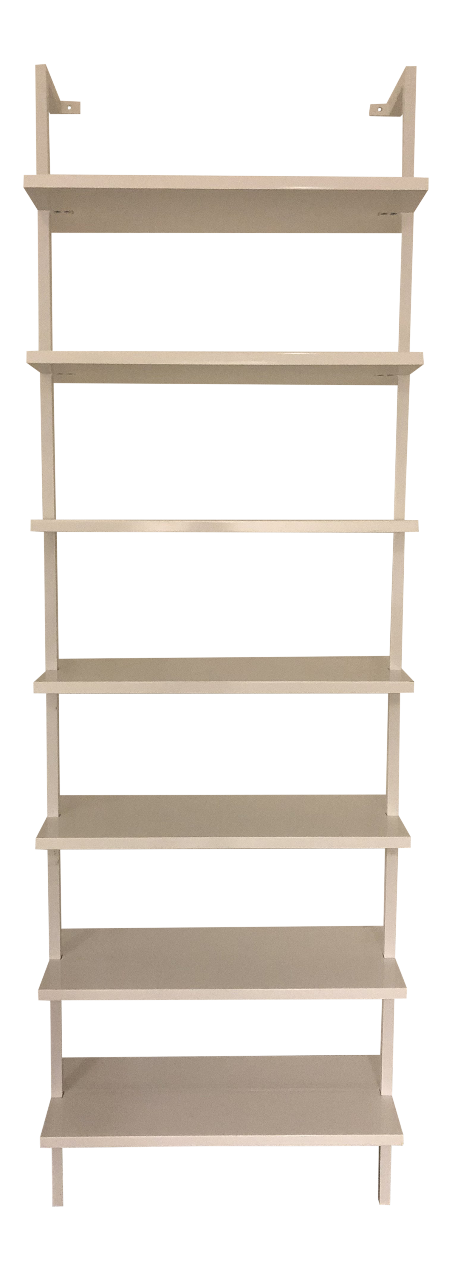 Cb2 Stairway White 96 Wall Mounted Bookcase