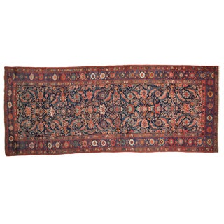 "Antique Fragment Kurdish Bijar Rug Runner - 3'6"" X 8'6"" For Sale"