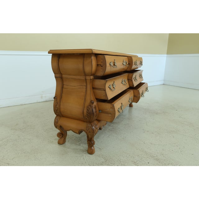 Brown French Baroque Style 6 Drawer Dresser For Sale - Image 8 of 11