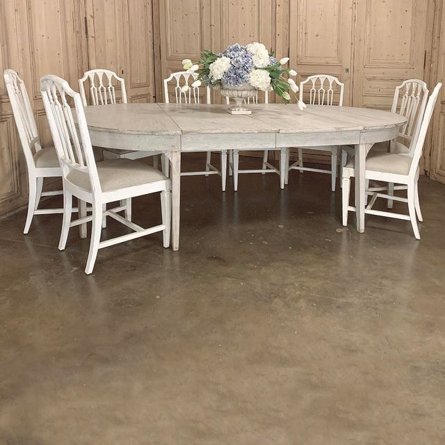 Early 19th Century Banquet Table, Painted, Early 19th Century Swedish Gustavian Period For Sale - Image 5 of 13