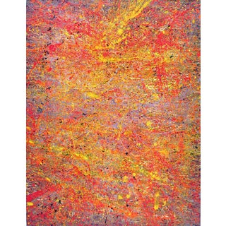 Warm Abstract Painting For Sale