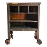 Image of Vintage Industrial Rolling Factory Cart For Sale