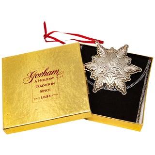1999 Gorham Sterling Snowflake Figurine For Sale