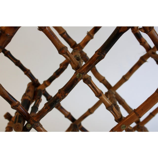 Vintage French Bamboo Wine Rack - Image 5 of 6