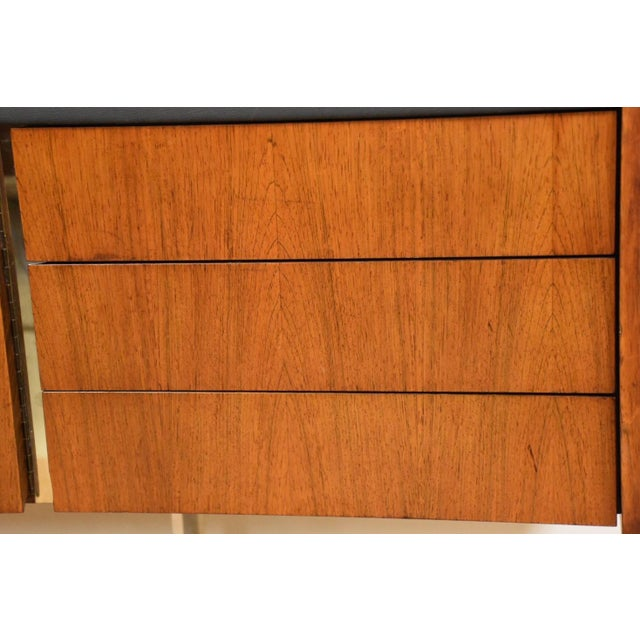 Ste-Marie Rosewood & Chrome Credenza For Sale - Image 9 of 11