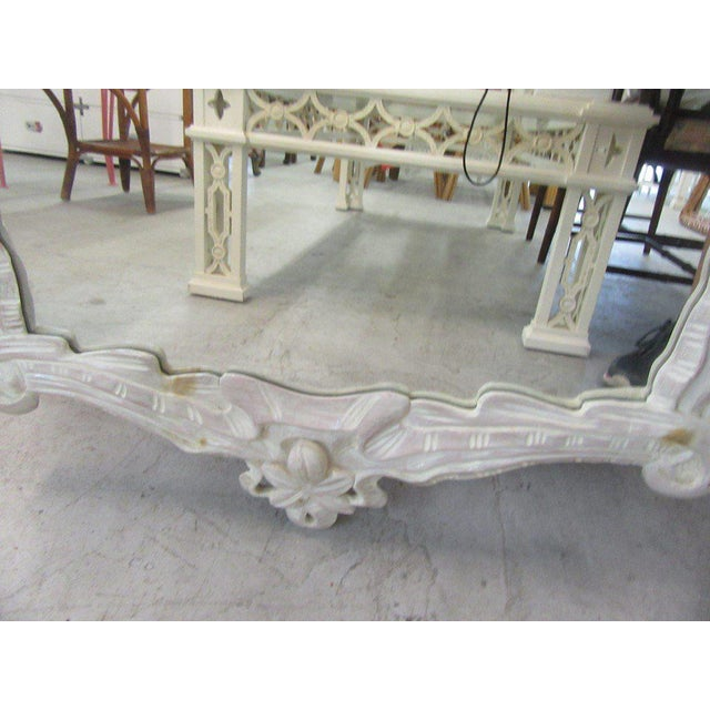 White Carved Flower Vine Mirror, Late 20th Century For Sale - Image 4 of 7