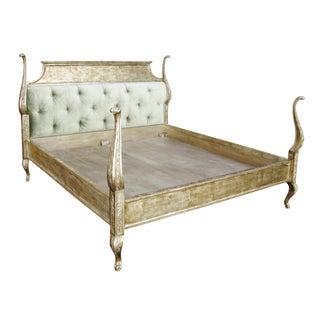 Carved Italian Venetian Bed by Randy Esada Designs For Sale