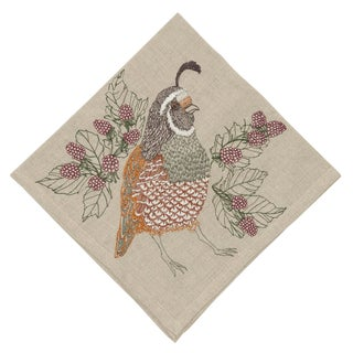 Cottage Quail Dinner Napkin For Sale