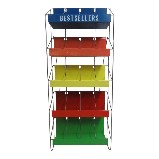 Vintage Chrome Multicolor Book Rack - Image 1 of 11