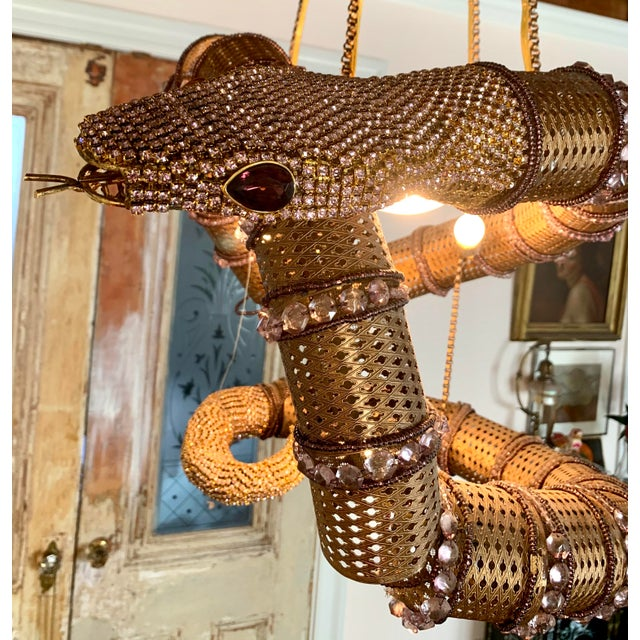 Snake Serpent Chandelier For Sale In New York - Image 6 of 12