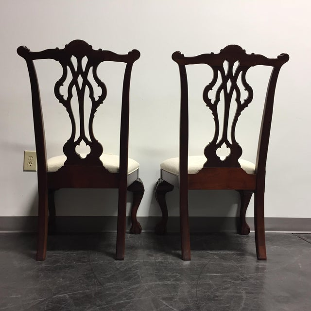 Thomasville Mahogany Collection Ball & Claw Dining Chairs - A Pair - Image 10 of 11
