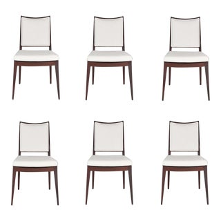 Set of 6 Frame Back Dining Chairs For Sale