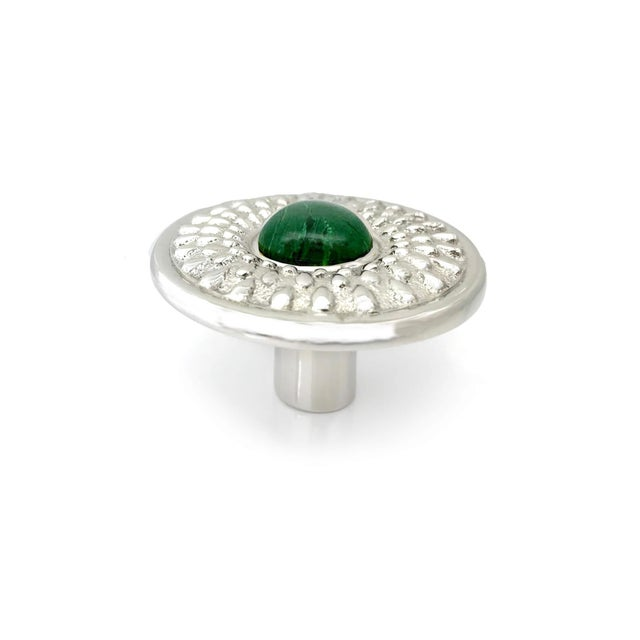 Contemporary Addison Weeks Oliver Knob Small, Nickel & Malachite For Sale - Image 3 of 4