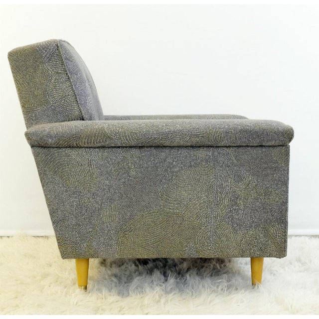 Modern Pair of American Armchairs, Rowe - New Upholstery by Pierre Frey Collection For Sale - Image 3 of 6
