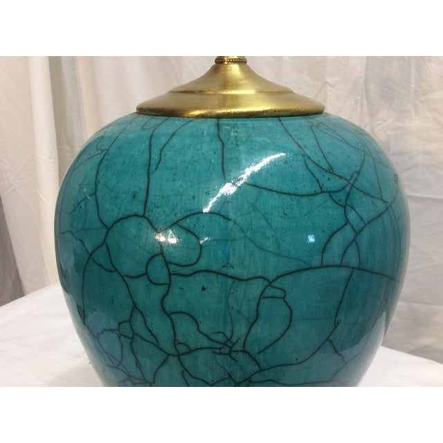 Mid-Century Modern Teal Table Lamp - Image 5 of 6