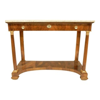 French Empire Walnut Console For Sale