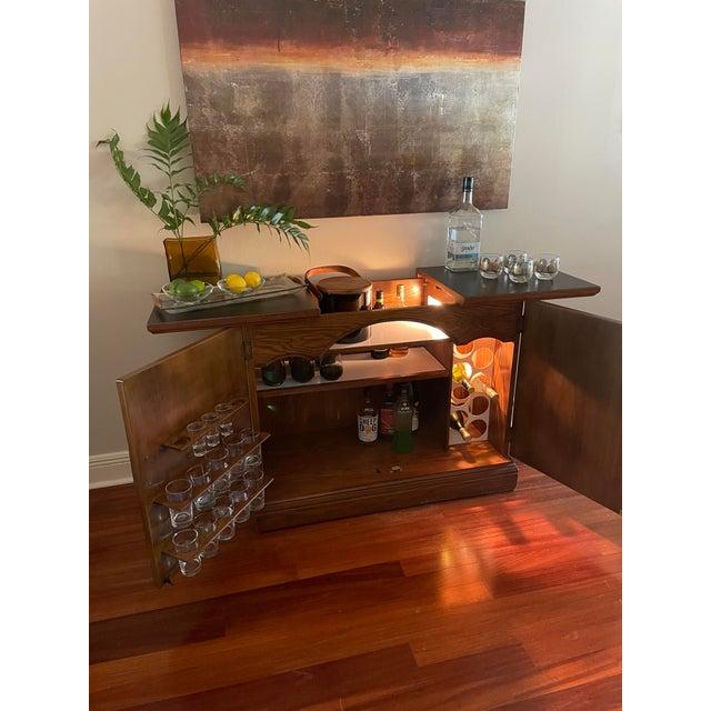 Mid 20th Century Vintage Brutalist Dry Bar Cabinet For Sale - Image 5 of 12