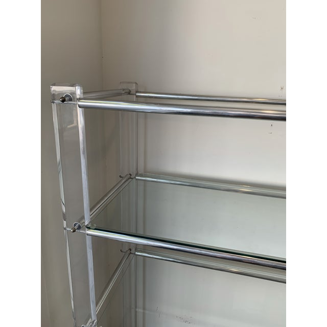 Lucite and Chrome Tube Display & Shelving Unit For Sale In Los Angeles - Image 6 of 10