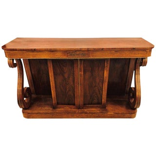 Empire 19th-20th Century Boule Inlaid Rosewood Credenza or Sideboard
