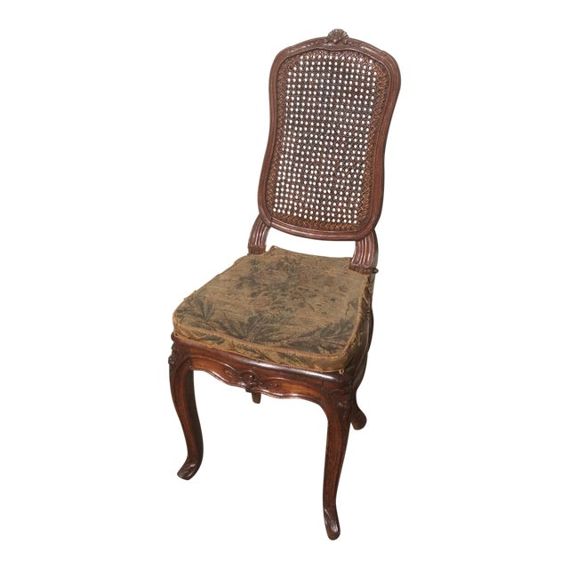 18th C. Original French Aubusson Tapestry Side Chair For Sale