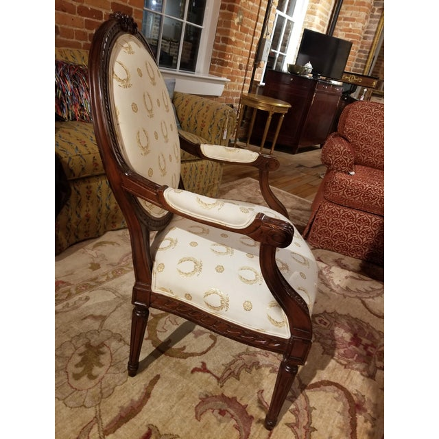 Mid 20th Century Mid 20th Century Louis XVI Fauteuil For Sale - Image 5 of 9
