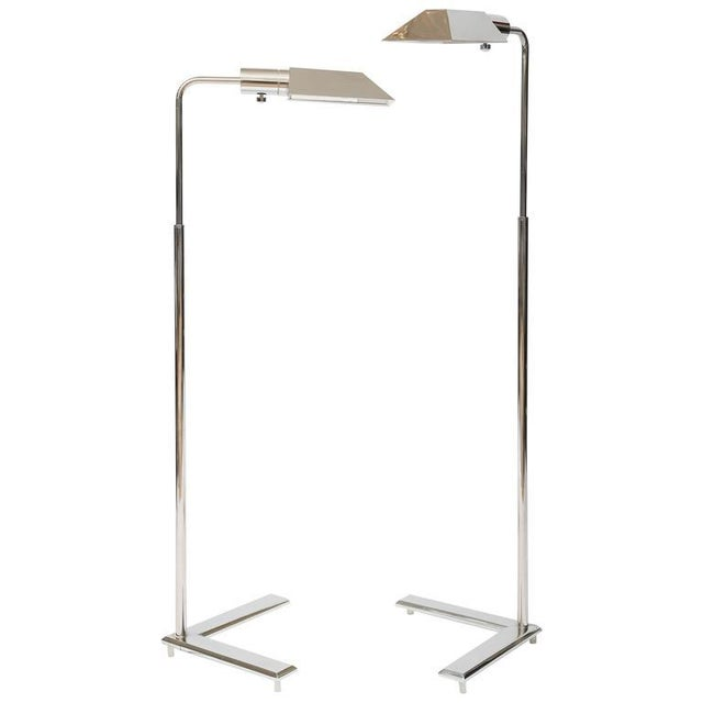 Cedric Hartman Style Chrome Floor Lamps - A Pair - Image 1 of 8