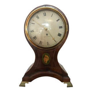 1840s George W. Yonge of London Balloon Mantle Clock