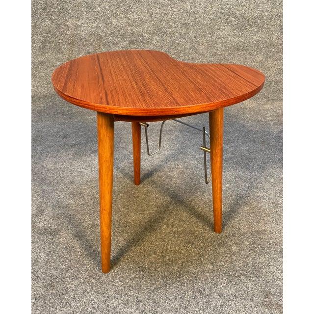 "Vintage Danish Mid Century Modern ""Gorm"" Side Table by Edmund Jørgensen For Sale In San Diego - Image 6 of 9"