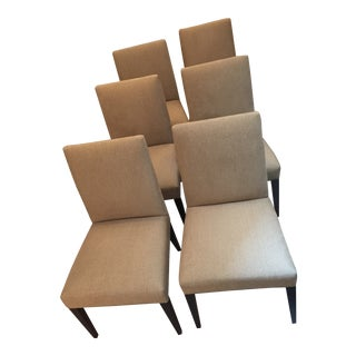 Crate & Barrel Miles Upholstered Dining Chairs - Set of 6 For Sale