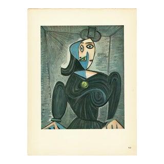 "1943 Pablo Picasso ""Portrait"", First Edition Period Parisian Lithograph For Sale"