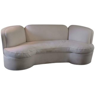 Vintage Curved White Sofa