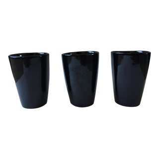 Vintage Frankoma Pottery Tumblers - Set of 3 For Sale