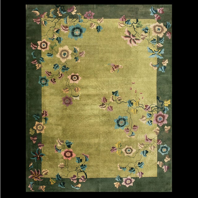 Antique Chinese Art Deco Rug For Sale - Image 13 of 13