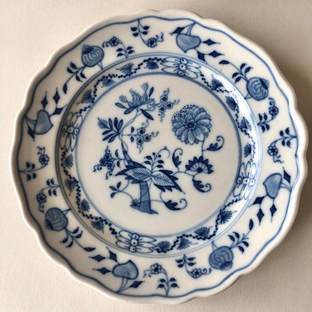 Ceramic Vintage Meissen Bread Plates by Carl Teichert - Set of 4 For Sale - Image 7 of 12