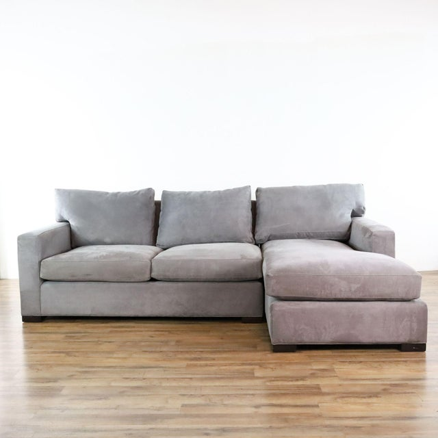 Modern Axis II Sectional Sofa With Chaise - Two Pieces. Brand is Crate & Barrel. Original Price $2,899.00. Dimensions...