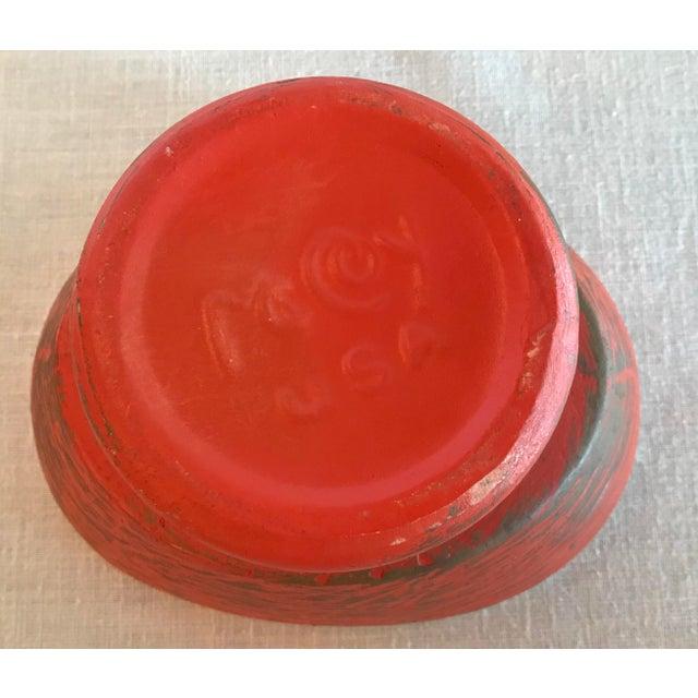Metal 20th Century Contemporary McCoy Orange Gold Dust Ceramic Planter For Sale - Image 7 of 8