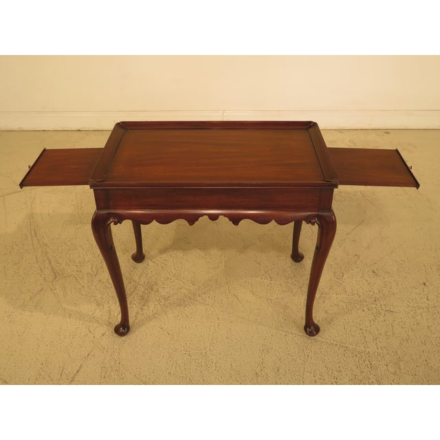 Traditional Henkel Harris Queen Anne Mahogany Tea Table For Sale - Image 3 of 10